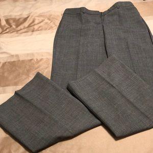 Express Editor Grey wide leg trouser pants